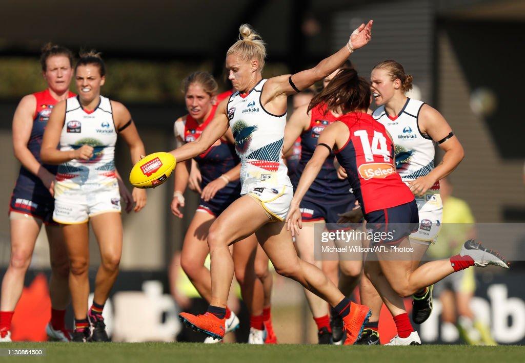 AFLW Rd 7 - Melbourne v Adelaide : News Photo