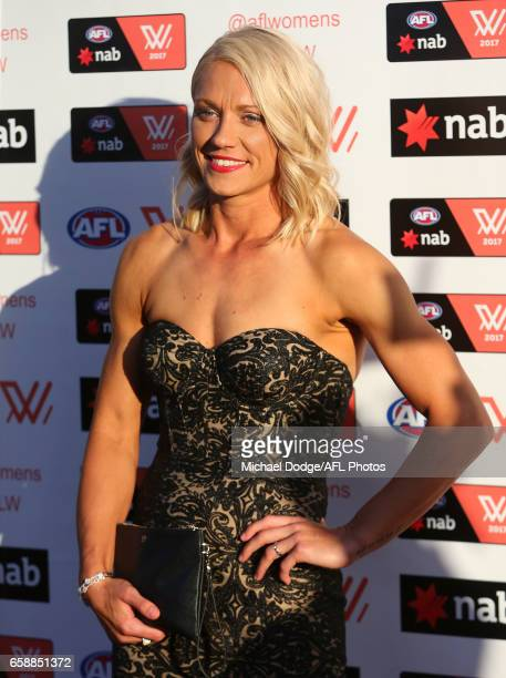 Erin Phillips of the Crows looks on during the The W Awards at the Peninsula on March 28 2017 in Melbourne Australia