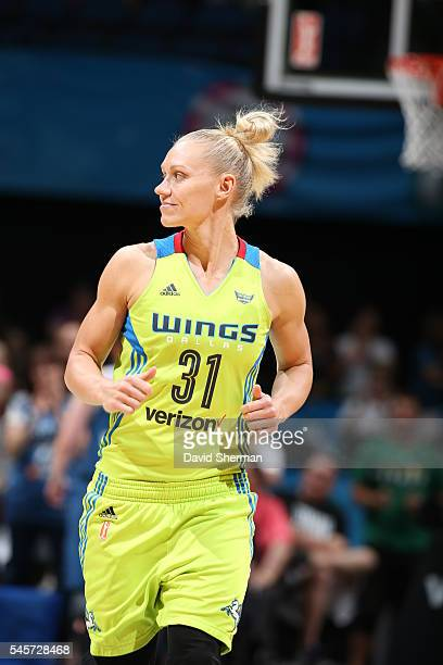 Erin Phillips of the Dallas Wings during the game against the Minnesota Lynx during a WNBA game on July 9 2016 at Target Center in Minneapolis...