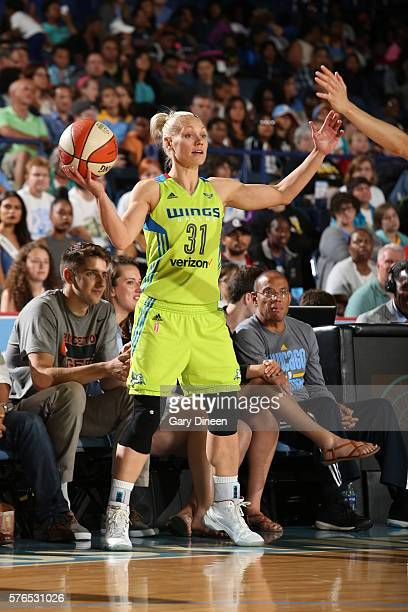 Erin Phillips of the Dallas Wings handles the ball against the Chicago Sky on July 15 2016 at Allstate Arena in Chicago Illinois NOTE TO USER User...