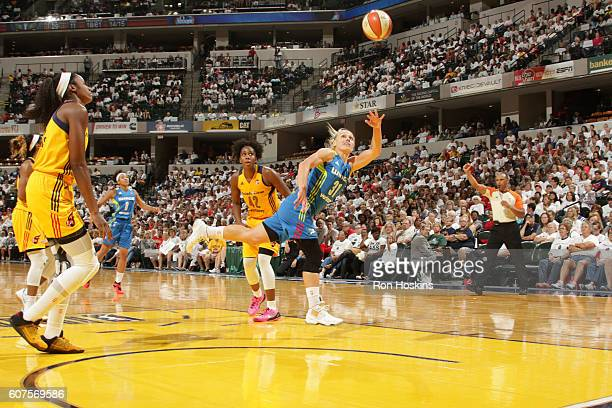 Erin Phillips of the Dallas Wings shoots the ball against the Indiana Fever on September 18 2016 at Bankers Life Fieldhouse in Indianapolis Indiana...