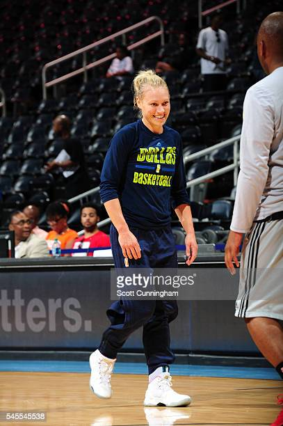 Erin Phillips of the Dallas Wings warms up before the game against the Atlanta Dream on July 8 2016 at Philips Arena in Atlanta Georgia NOTE TO USER...