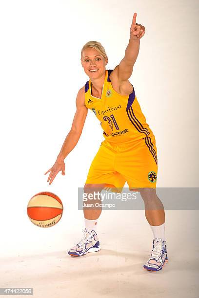 Erin Phillips of the Los Angeles Sparks poses for a photo during media day at Galen Center on May 21 2015 in Los Angeles California NOTE TO USER User...