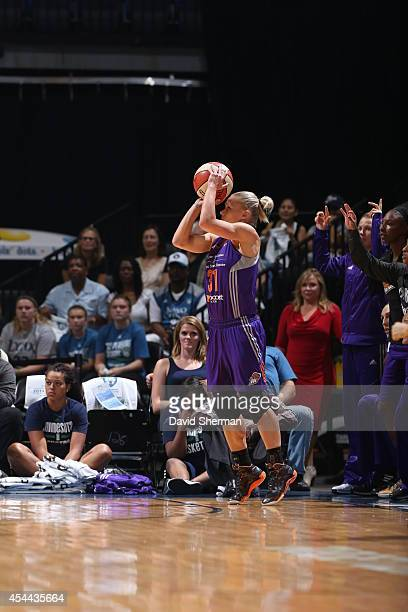 Erin Phillips of the Phoenix Mercury goes for the shot against the Minnesota Lynx during the WNBA Western Conference Finals Game 2 on August 31 2014...