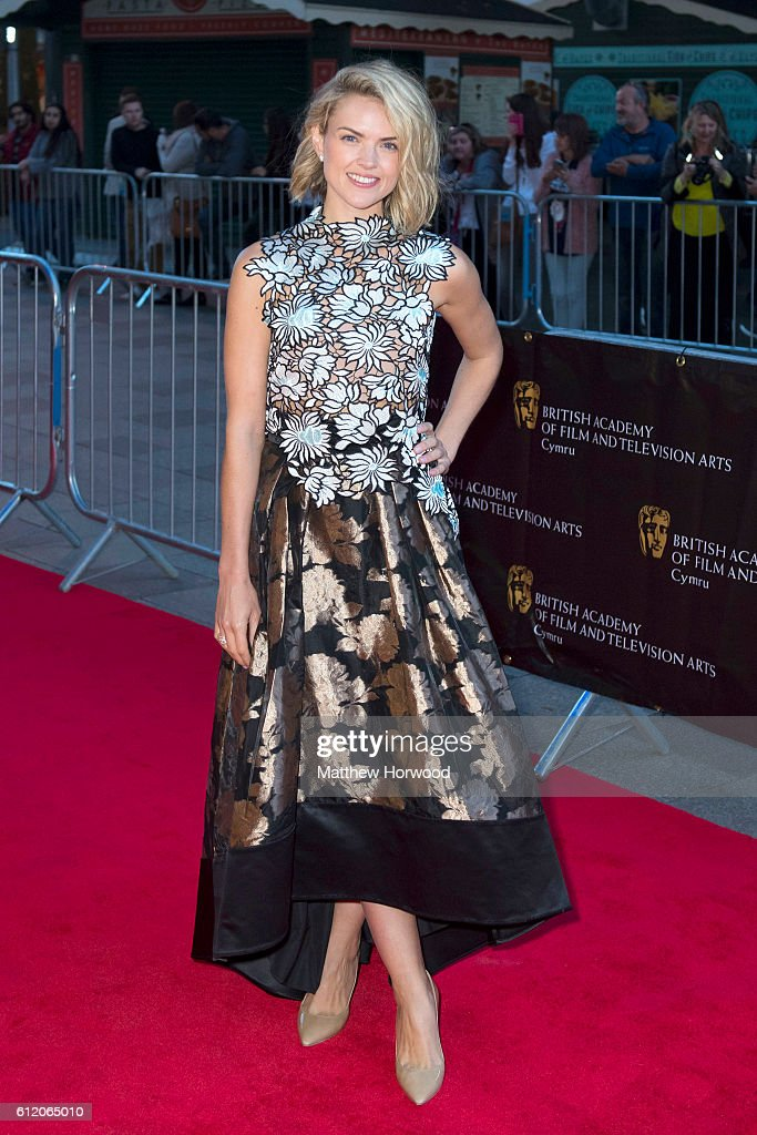 Erin Richards arrives for the 25th British Academy Cymru Awards at St David's Hall on October 2, 2016 in Cardiff, Wales.