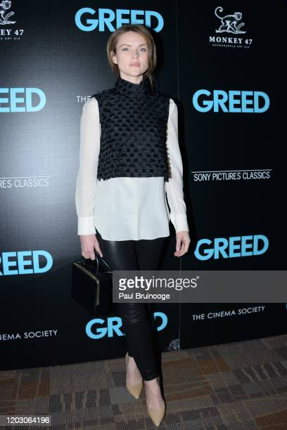 "Erin Richards attends The Cinema Society & Monkey 47 Host A Special Screening Of Sony Pictures Classics' ""Greed"" at Cinepolis Chelsea on February 24,..."