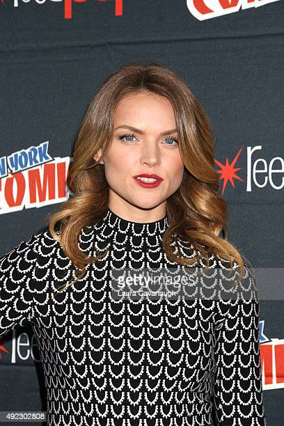 Erin Richards of 'Gotham' attends New York Comic Con 2015 Day 4 at The Jacob K Javits Convention Center on October 11 2015 in New York City