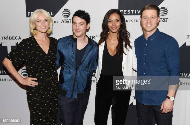 Erin Richards Robin Lord Taylor Jessica Lucas and Ben McKenzie attend the Tribeca TV Festival sneak peek of Gotham at Cinepolis Chelsea on September...
