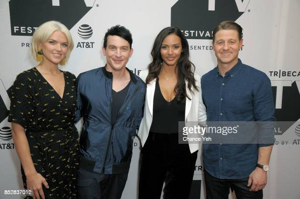 Erin Richards Robin Lord Taylor Jessica Lucas and Ben McKenzie attend 'Gotham' sneak peek during Tribeca TV Festival at Cinepolis Chelsea on...