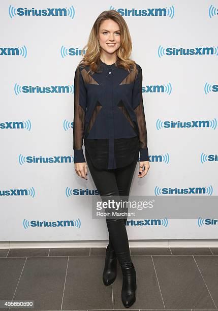 Erin Richards visits at SiriusXM Studios on November 5 2015 in New York City