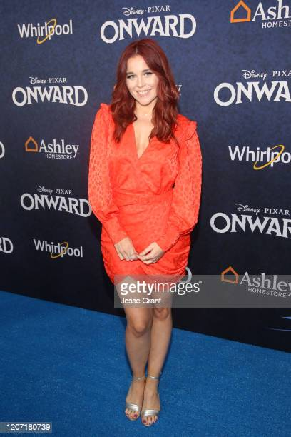 Erin Robinson attends the world premiere of Disney and Pixar's ONWARD at the El Capitan Theatre on February 18 2020 in Hollywood California