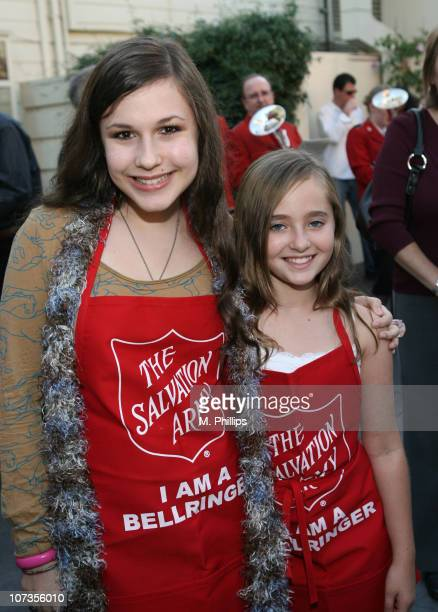 Erin Sanders and Rachel Fox during 2006 Salvation Army Kettle Kick Off at Farmer's Market in Los Angeles CA United States