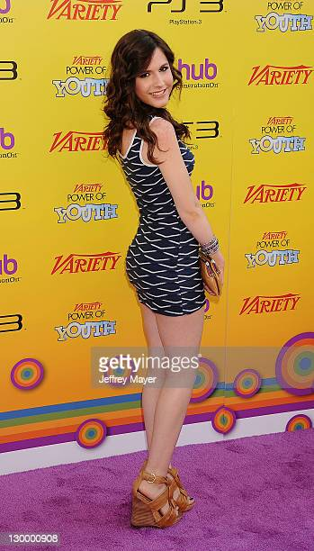 Erin Sanders arrives at Variety's 5th Annual Power Of Youth Event Presented By The Hub at Paramount Studios on October 22 2011 in Hollywood California