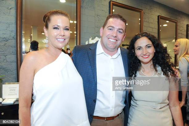 Erin Steed Aaron Steed and Neslie Akkol attend A Night Out a fundraising event benefiting #MoveToEndDV hosted by Beverly Hills plastic surgeon Dr...