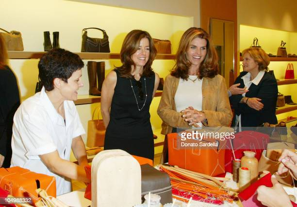 Erin Stein and Maria Shriver during United Friends of the Children Trunk Show Event at Tod's Boutique at Tod's Store Beverly Hills in Beverly Hills,...