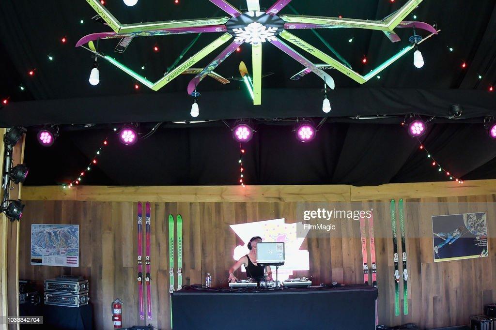 DJ Erin Stereo performs in the 80s Ski Lodge during day 1 of Grandoozy on September 14, 2018 in Denver, Colorado.