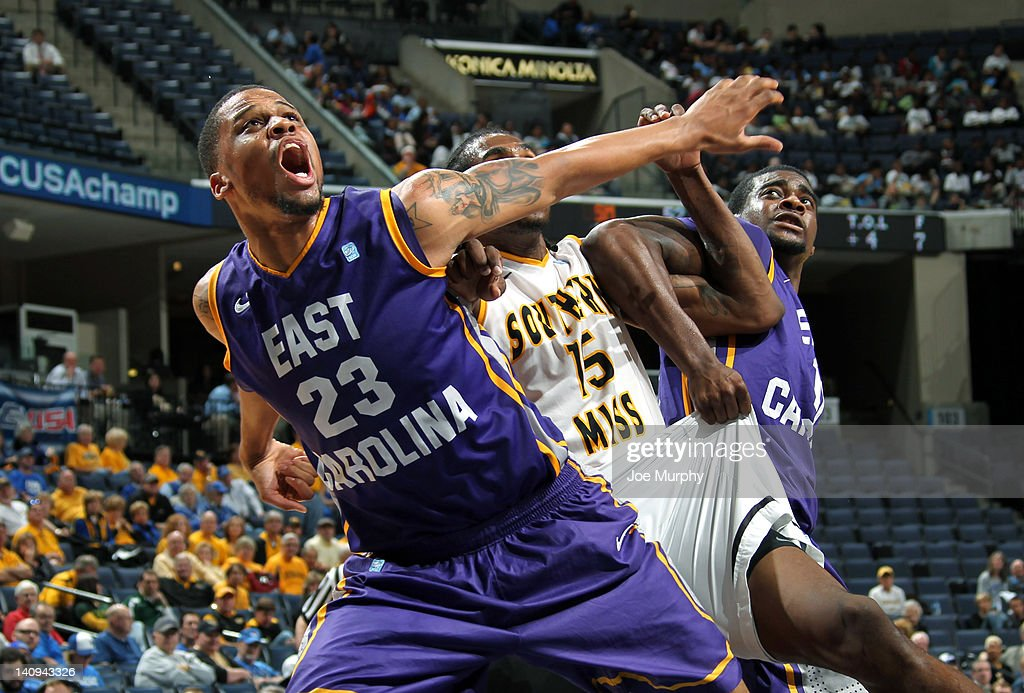 Conference USA Basketball Tournament  - East Carolina v Southern Miss : News Photo