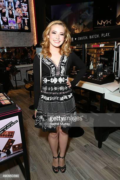 Erin Timony attends the World's 1st NYX store Grand Opening VIP preview party at Westfield Santa Anita on October 1 2015 in Arcadia California