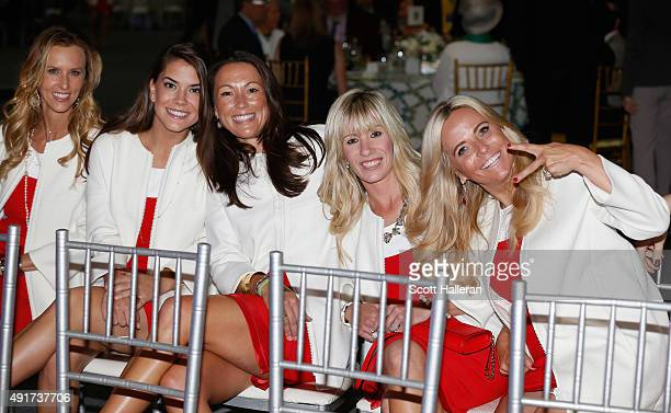 Erin Walker Annie Verret Sybi Kucher Justine Reed and Amy Mickelson of the United States pose for a picture during the opening ceremony of the 2015...