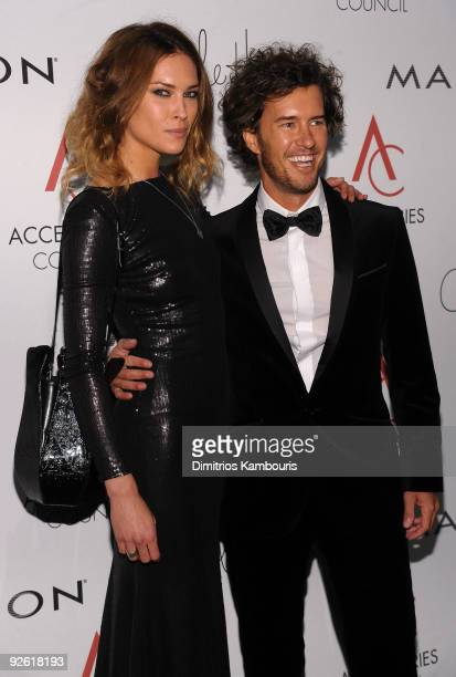 Erin Wasson and Blake Mycoskie attend the 13th Annual 2009 ACE Awards presented by the Accessories Council at Cipriani 42nd Street on November 2 2009...
