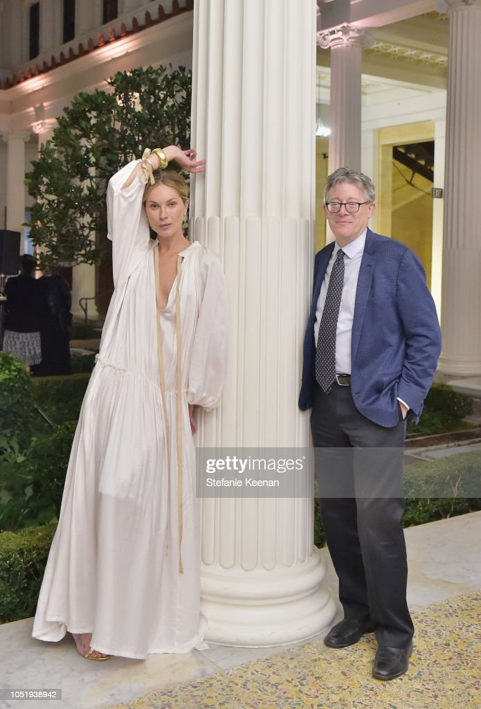 Erin Wasson And Getty Villa Senior Curator Jeffrey Spier Attend The News Photo Getty Images