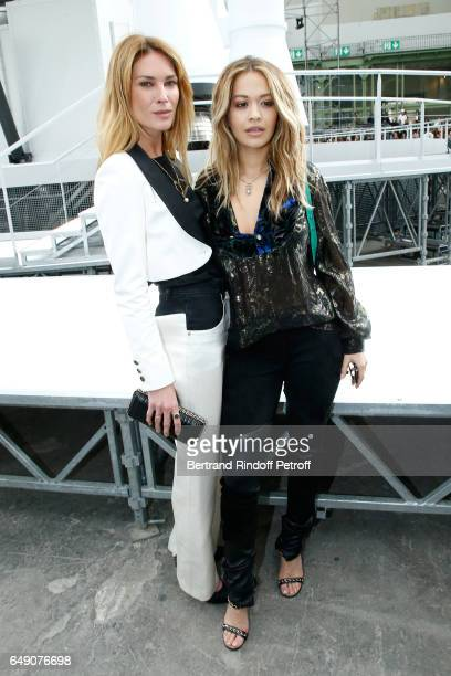 Erin Wasson and Rita Ora attend the Chanel show as part of the Paris Fashion Week Womenswear Fall/Winter 2017/2018 on March 7 2017 in Paris France