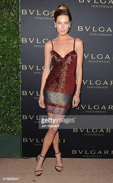 Erin Wasson arrives at BVLGARI 'Decades Of Glamour' Oscar Party Hosted By Naomi Watts at Soho House on February 25 2014 in West Hollywood California