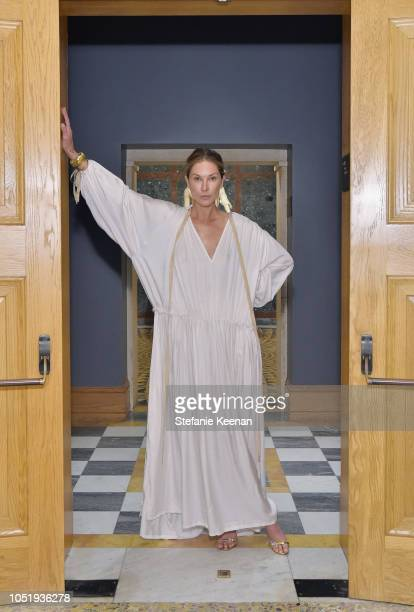 Erin Wasson attends The Getty C Magazine Dinner at The Getty Villa on October 11 2018 in Pacific Palisades California