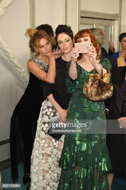 Erin Wasson Coco Rocha and Karen Elson attend the 2017 CFDA Fashion Awards at Hammerstein Ballroom on June 5 2017 in New York City