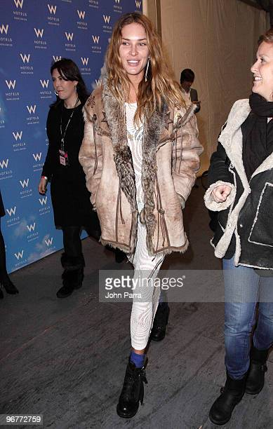 Erin Wasson is seen around Bryant Park during MercedesBenz Fashion Week on February 16 2010 in New York City