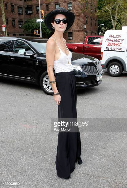 Erin Wasson is seen during MercedesBenz Fashion Week Spring 2015 at Lincoln Center for the Performing Arts on September 8 2014 in New York City