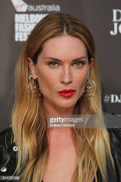 Erin Wasson poses as she arrives for the David Jones opening event as part of Virgin Australia Melbourne Fashion Festival on March 7 2016 in...