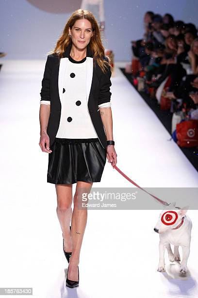 Erin Wasson walks the runway during the Target fashion show at David Pecaut Square on October 24 2013 in Toronto Canada