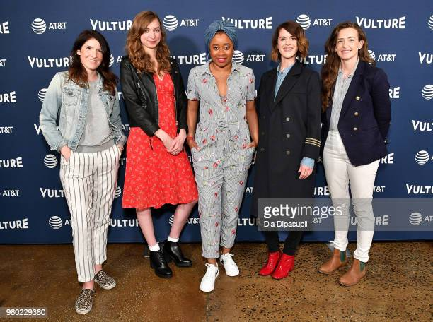 Erin Whitehead Lauren Lapkus Phoebe Robinson Mary Holland and Stephanie Allynne of Wild Horses attend the Vulture Festival Presented By ATT Milk...
