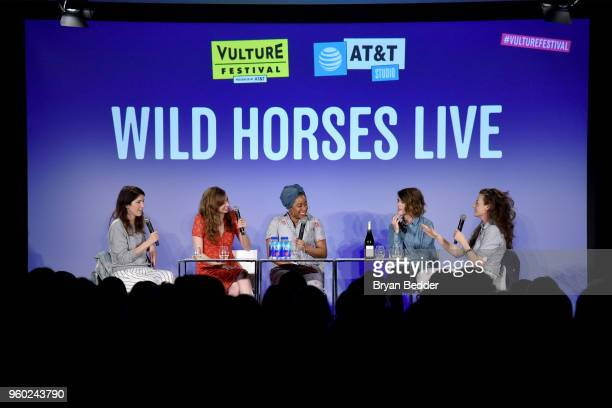 Erin Whitehead Lauren Lapkus Phoebe Robinson Mary Holland and Stephanie Allynne speak onstage at Vulture Festival Presented By ATT WILD HORSES LIVE...