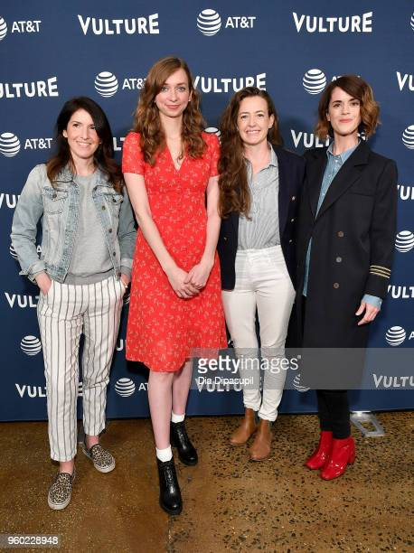 Erin Whitehead, Lauren Lapkus, Stephanie Allynne and Mary Holland of Wild Horses attend the Vulture Festival Presented By AT&T - Milk Studios, Day 1...