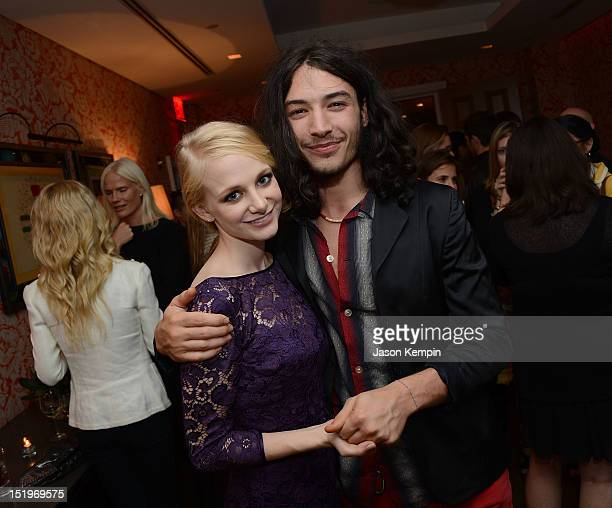 Erin Wilhelmi and Ezra Miller attend the after party for The Cinema Society with Lancome Nylon screening of 'The Perks of Being a Wallflower' at...