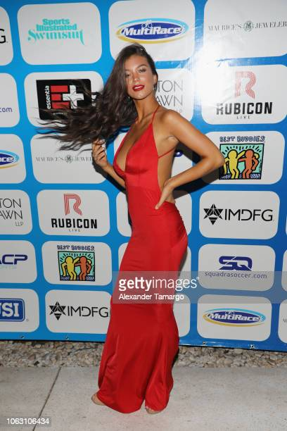 Erin Willerton attends the 1st Annual Celebrity Beach Soccer After Party Presented By GACP Sports Sports Illustrated at W South Beach on November 17...