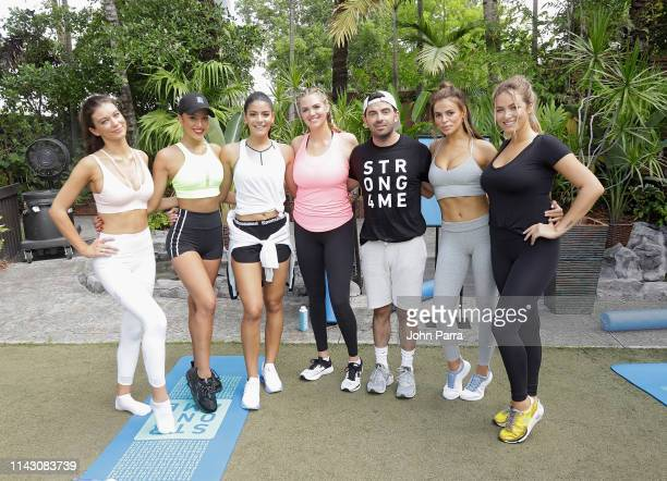 Erin Willerton Jessica Aidi Manuela Alvarez Hernandez Kate Upton Ben Bruno Brooks Nader and guest are seen during the Sports Illustrated Swimsuit and...
