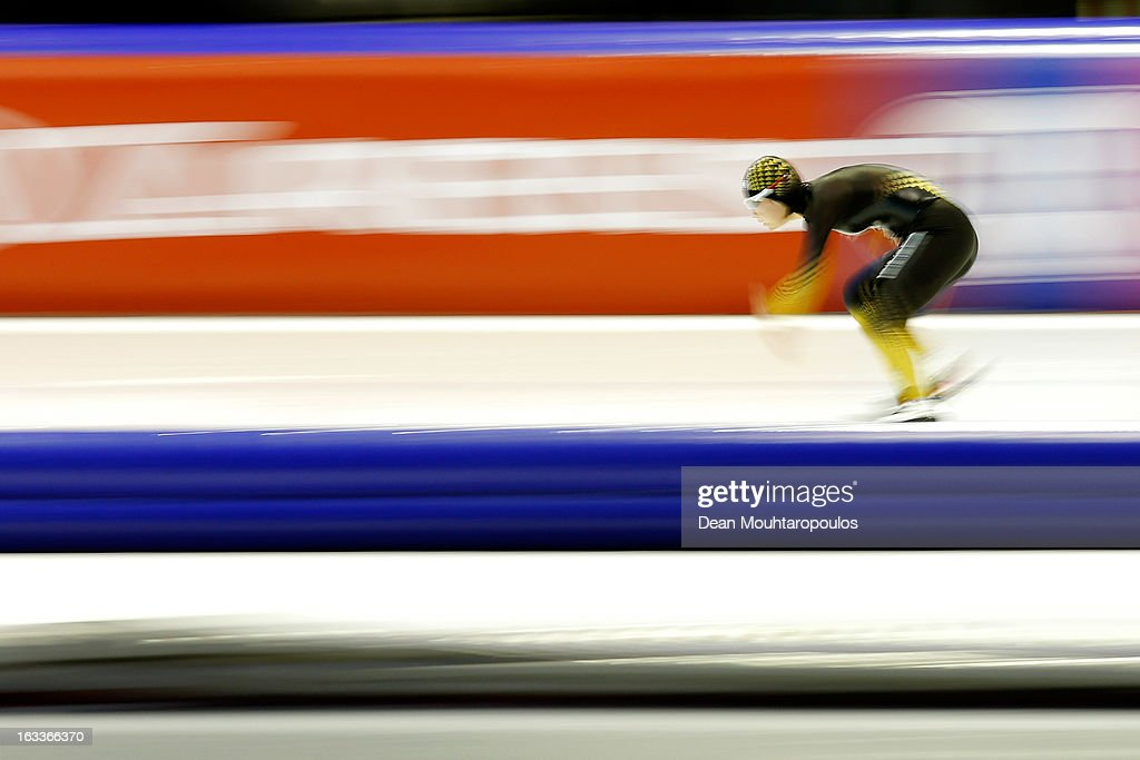 Erina Kamiya of Japan competes in the 500m Ladies race during Day 1 of the Essent ISU World Cup Speed Skating Championships 2013 at Thialf Stadium on March 8, 2013 in Heerenveen, Netherlands.