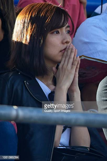 Erina Mano attends during the La Liga match between Getafe CF and Levante UD at Coliseum Alfonso Perez on October 6 2018 in Getafe Spain