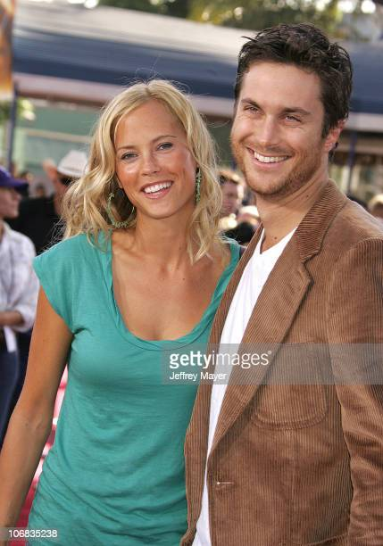 Erinn Bartlett and Oliver Hudson during DreamWorks Pictures' Dreamer Inspired by a True Story Los Angeles Premiere Arrivals at Mann Village Theatre...