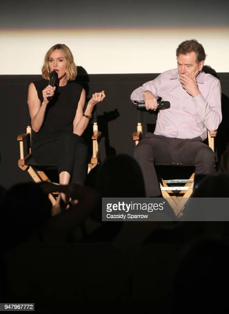Erinn Hayes and Bryan Cranston attend the moms host a Mamarazzi event special screening of an episode of The Dangerous Book For Boys at Sony Pictures...