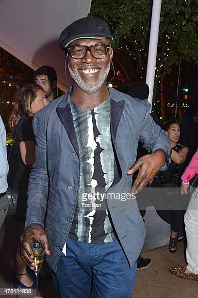 Eriq Ebouaney attends the 'Hublot Blue' cocktail party At Monsieur Bleu Palais De Tokyo on June 24 2015 in Paris France