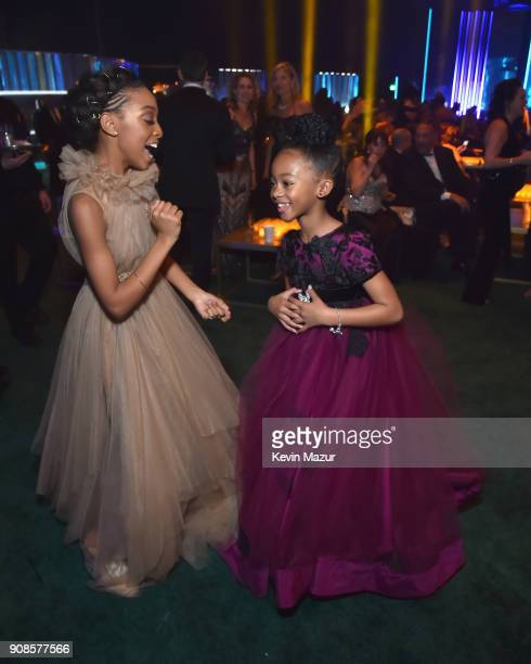 Eris Baker and Faithe Herman attend People and EIF's Annual Screen Actors Guild Awards Gala sponsored by TNT and L'Oreal Paris at The Shrine...