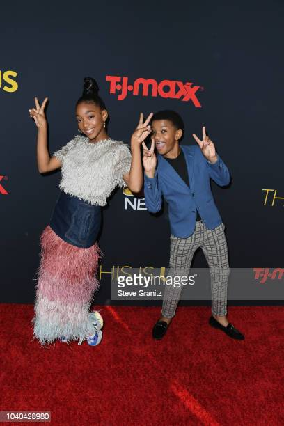 Eris Baker and Lonnie Chavis attend the Season 3 Premiere of NBC's This Is Us at Paramount Studios on September 25 2018 in Hollywood California