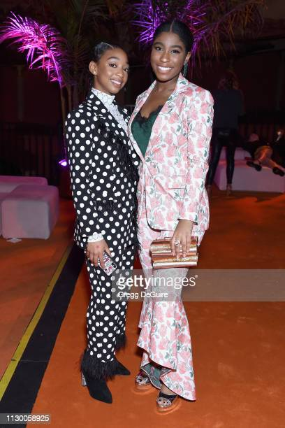 Eris Baker and Lyric Ross attend Teen Vogue's Young Hollywood Party presented by Snap at Los Angeles Theatre on February 15 2019 in Los Angeles...