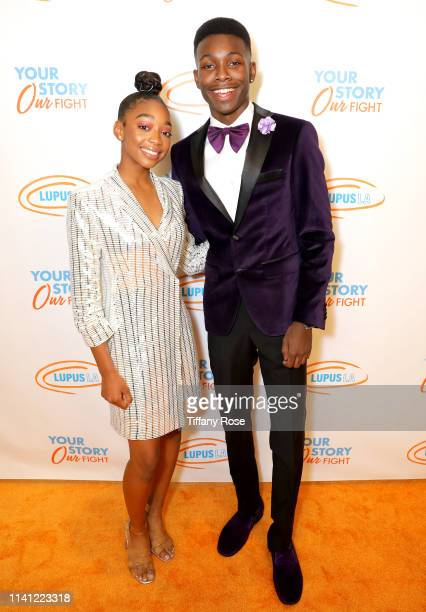 Eris Baker and Niles Fitch attend the Lupus LA 2019 Orange Ball at the Beverly Wilshire Hotel on May 4 2019 in Beverly Hills California