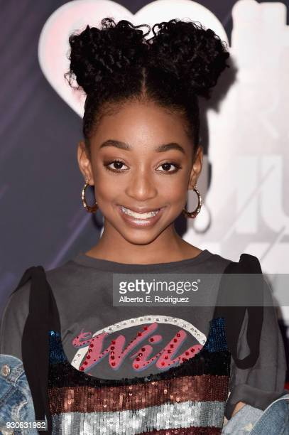 Eris Baker arrives at the 2018 iHeartRadio Music Awards which broadcasted live on TBS TNT and truTV at The Forum on March 11 2018 in Inglewood...