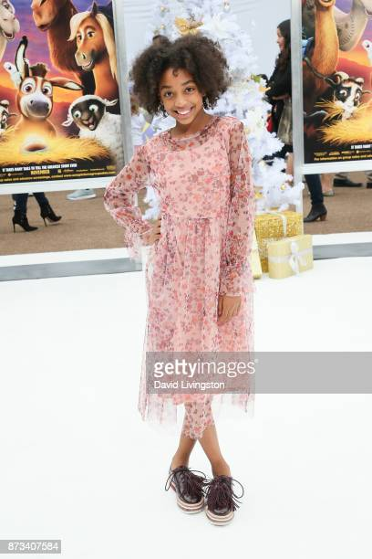 Eris Baker arrives at the Premiere of Columbia Pictures' 'The Star' at the Regency Village Theatre on November 12 2017 in Westwood California